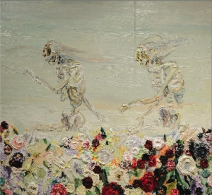Allison Schulnik, Skipping Skeletons, 2008