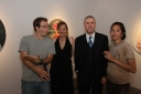 (L-R) MMG Artists Kiel Johnson and Jennifer Nehrbass with Max Presneill (Torrance Art Museum) and Klai Brown