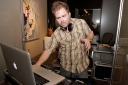 DJ Billy the Kkid works the turntables