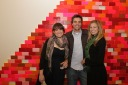 Gallery intern Danielle Cohen and friends (L-R)