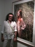 "Yigal Ozeri and his painting, ""Untitled: Jessica with Vines"""