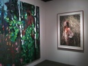 "Yigal Ozeri's ""Untitled"" alongside Kim Dorand's ""Meeting"""