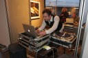 DJ Billy the Kkid spins some vinyl