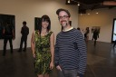 Gallery Manager Catlin Moore with Chris Stanton of Daily duJour